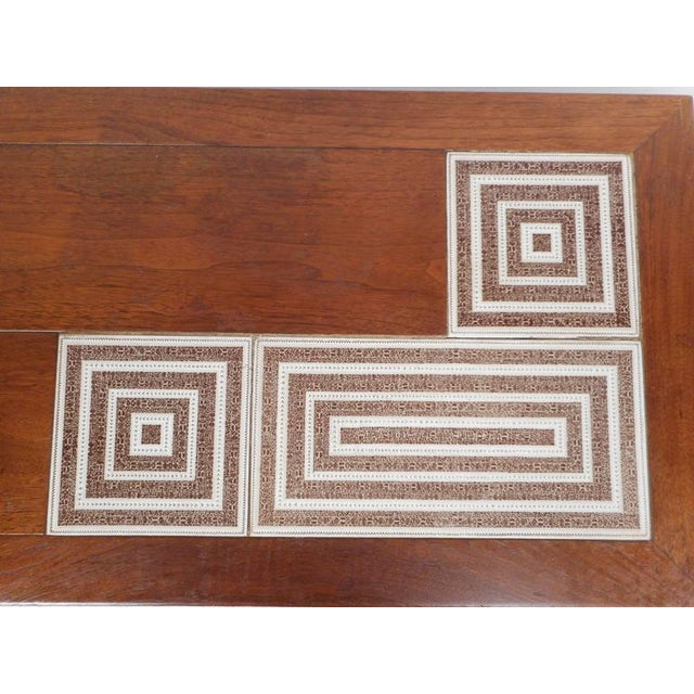 Wood Mid-Century Modern Tile-Tip Pivot Coffee Table For Sale - Image 7 of 11