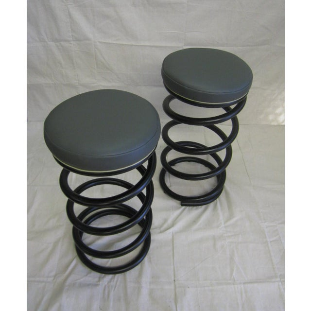 Industrial Spring Stools - A Pair For Sale - Image 5 of 6