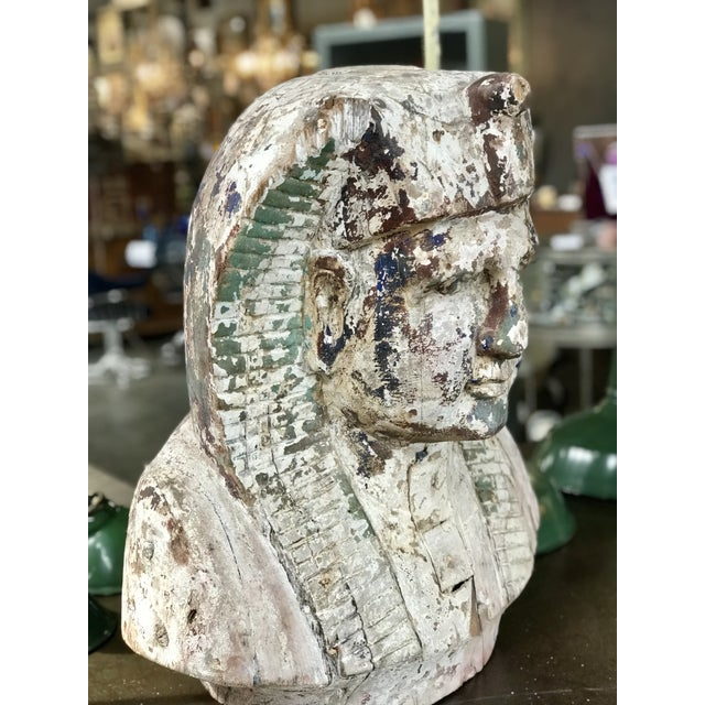 Egyptian Revival Pharaoh Sculpture For Sale - Image 3 of 6