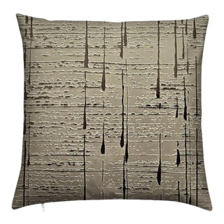 """C.Heckscher Collection Decorative Throw Pillow 16"""" X 16"""" """"Asia Champagne"""" For Sale"""