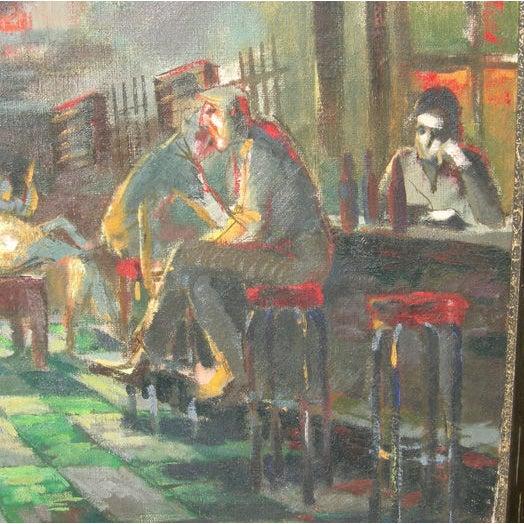 Depression Era Pool Hall Painting - Image 3 of 4