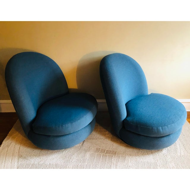 Metal Milo Baughman Swivel & Tilt Lounge Chairs, 1960's - a Pair For Sale - Image 7 of 8