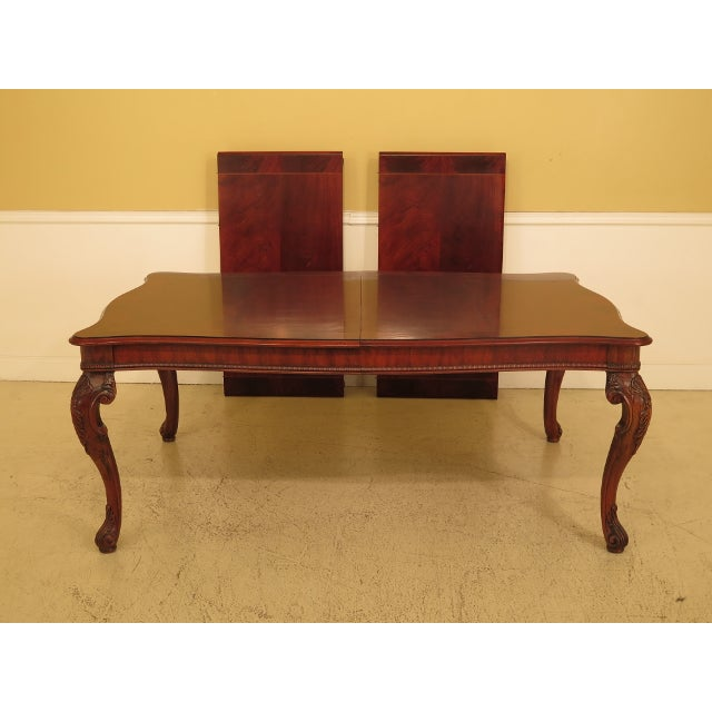 Henredon Georgian Mahogany Dining Room Table For Sale - Image 13 of 13