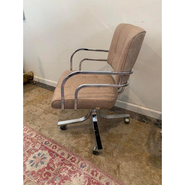 Mid-Century Modern 1980s Swivel Rocker Desk Chair For Sale - Image 3 of 11
