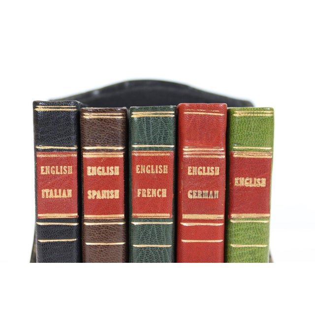 Miniature Italian, Spanish, German, French & English Dictionary Collection - Set of 5 - Image 5 of 5