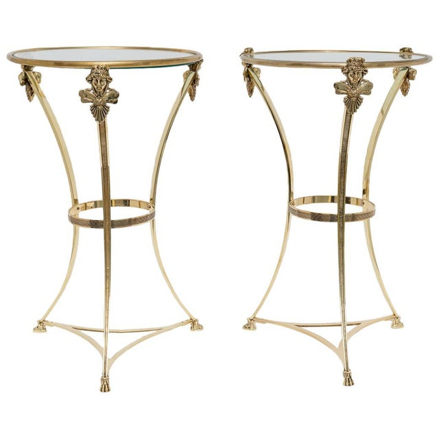 French Regency Style Brass Side Tables by Maison Jansen - a Pair For Sale - Image 11 of 11
