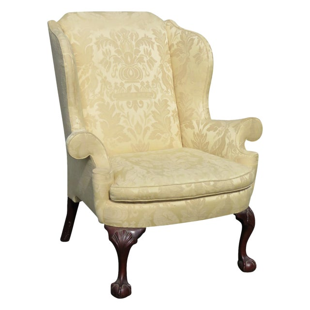 Kindel Winterthal Ball & Claw Wing Chair For Sale