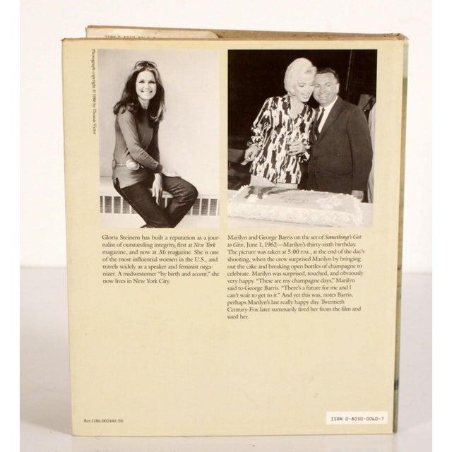 Mid-Century Modern Vintage Marilyn Monroe Hardcover Book by Gloria Steinem For Sale - Image 3 of 9
