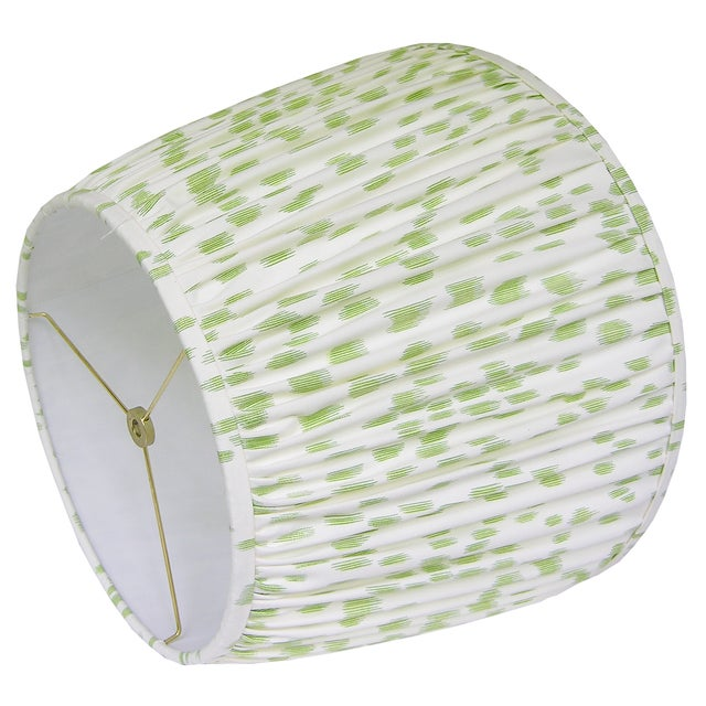 - New, handcrafted, pleated lamp shade - Fabric: Brunschwig & Fils Les Touches, Peridot. * Let me know if you would like a...