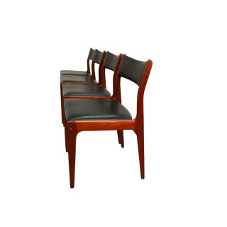 Johannes Andersen Uldum Møbelfabrik Danish Teak Dining Chairs For Sale
