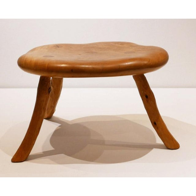 Mid-Century Modern Hand-Made and Signed Sallenger Stool For Sale - Image 3 of 6