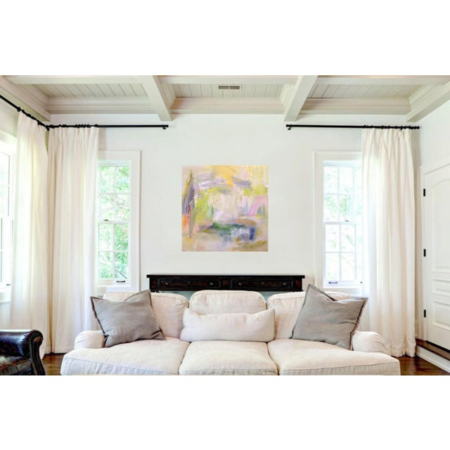 "2010s ""Misty Morning"" by Trixie Pitts Abstract Expressionist Painting For Sale - Image 5 of 12"