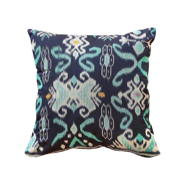 """Handwoven Balinese Indigo """"Karma Tosca"""" Pillow - Image 1 of 3"""