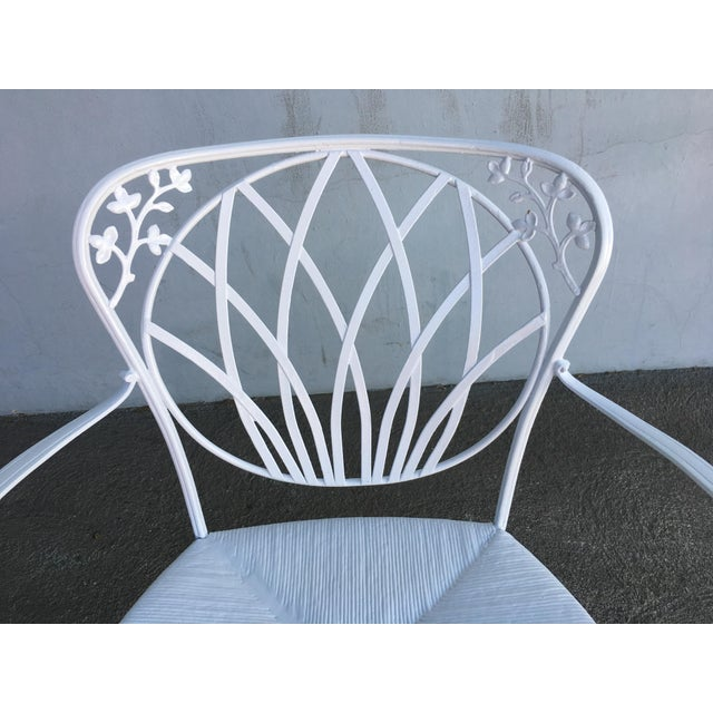 Woodard Art Nouveau Iron Patio/Outdoor Lounge Chairs, 9 Available For Sale In Los Angeles - Image 6 of 7