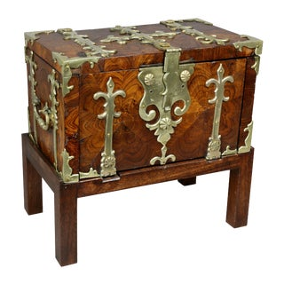 William and Mary Kingwood and Brass Mounted Coffer Fort For Sale