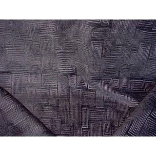 Ralph Lauren Perret Gray Mid Century Velvet Upholstery Fabric - 3-1/2 Yards For Sale