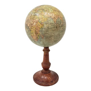 Rare 19th Century Terrestial Globe by G. Thomas, Editeur & Globe Maker, Paris C.1890s For Sale