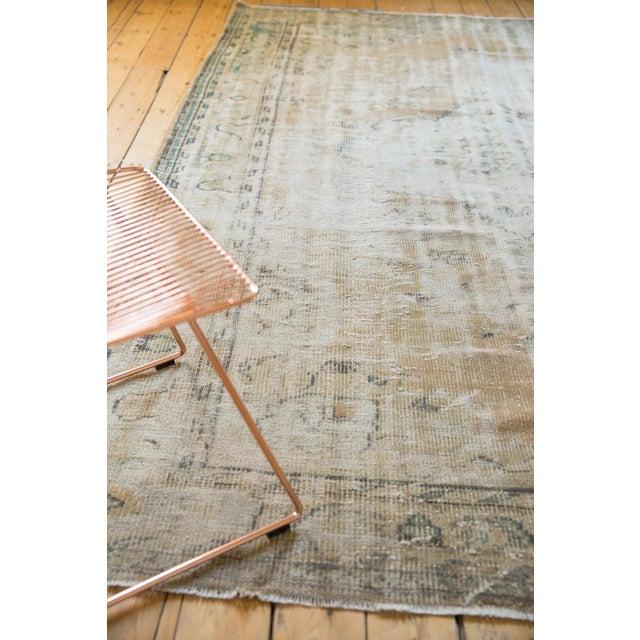 "Vintage Distressed Oushak Carpet - 7'2"" X 10'1"" For Sale - Image 12 of 13"