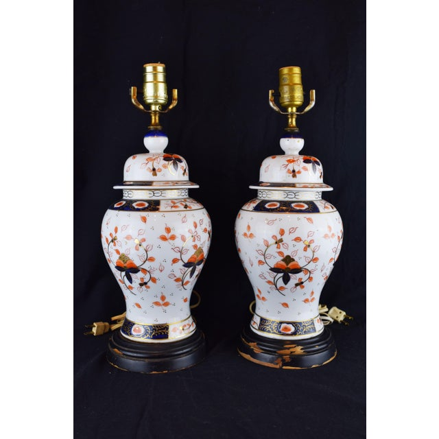 19th Century English Traditional Imari-Style Lamps - a Pair For Sale In New York - Image 6 of 6