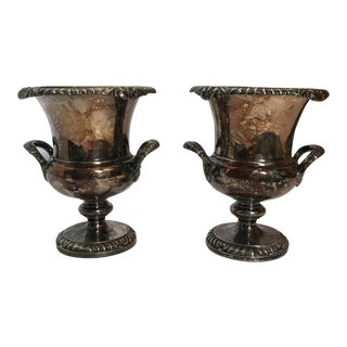 Miniature Silver Champagne Buckets - A Pair For Sale