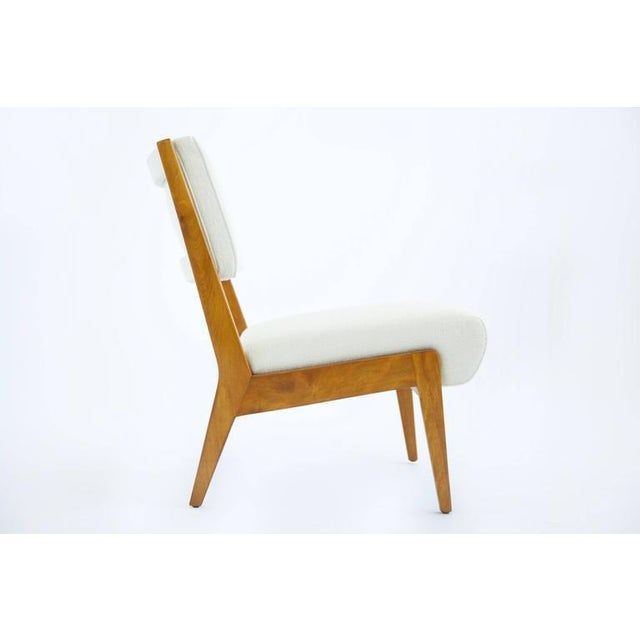 Mid-Century Modern Risom Armless Lounge Chair For Sale - Image 3 of 10
