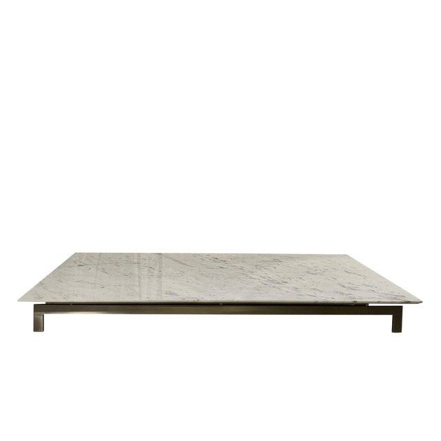 Contemporary Metropolitan Carrara Marble Coffee Table Chairish