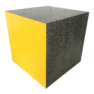 1980s Memphis Ettore Sottsass for Anthologie Quartetto Cube Table For Sale