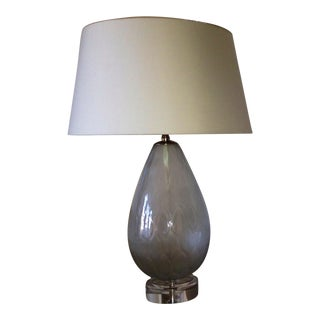 Arteriors Grey Mist Glass Lamp For Sale