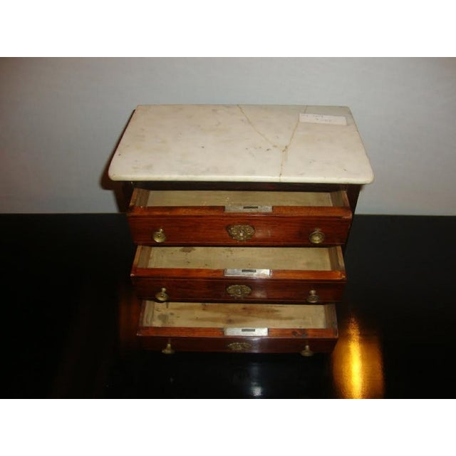 19th-Century Miniature Marble Top Chest For Sale - Image 4 of 8