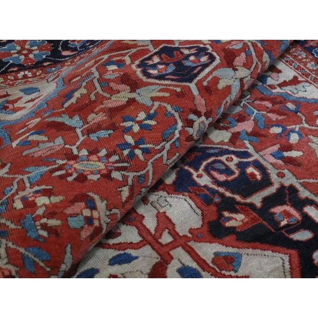 Antique Feraghan Sarouk Rug For Sale - Image 9 of 10