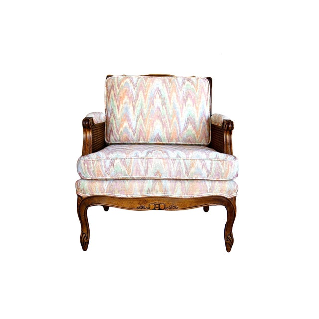 Double-Caned Rainbow Chevron Chair - Image 6 of 6