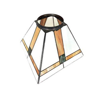 Square Slag Glass Art Deco Ceiling Light Shade For Sale