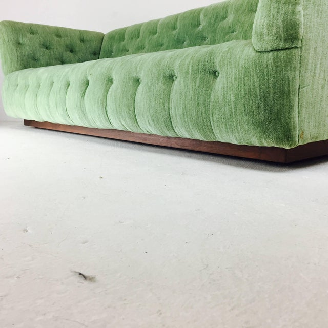 Milo Baughman Chesterfield Style Tufted Sofa For Sale In Dallas - Image 6 of 7