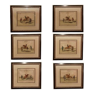 Set of Six Equestrian Engravings