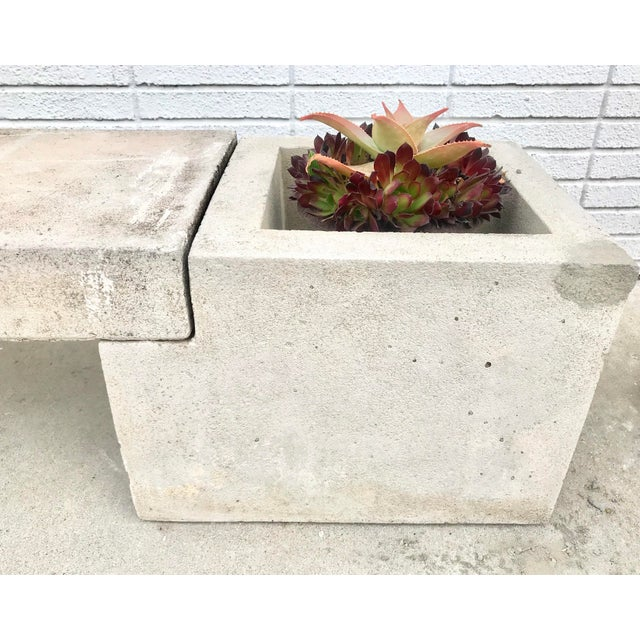 Mid Century Modern Concrete Planter Bench For Sale In Los Angeles - Image 6 of 7