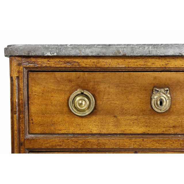 Louis XVI Provincial Walnut Commode For Sale - Image 4 of 10