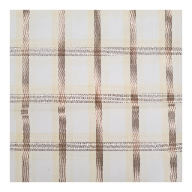 Holland & Sherry Corfu Plaid Cotton Designer Fabric by the Yard For Sale
