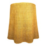 Image of Vintage Draped Rattan Trompe l'Oeil Ghost Side Table For Sale