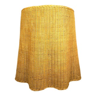 Vintage Draped Rattan Trompe l'Oeil Ghost Side Table For Sale