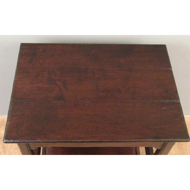Traditional Chippendale Rose Tarlow Dark Walnut Table With Pullout Library Steps For Sale - Image 3 of 7