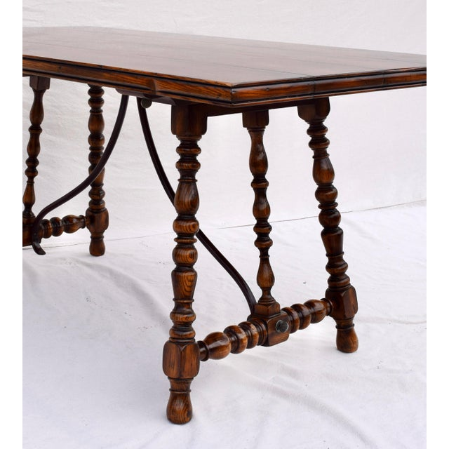 Black Spanish Colonial Style Dining Table by ABC Carpet & Home Center For Sale - Image 8 of 9