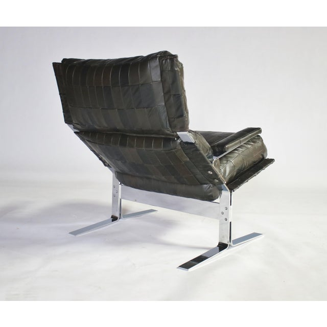 Metal Richard Hersberger for Saporiti Lounge Chair and Ottoman For Sale - Image 7 of 12