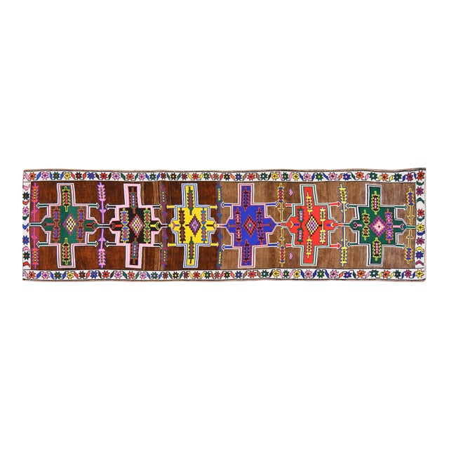 Vintage Kurdish Runner Rug - 2'10''x10'10'' For Sale