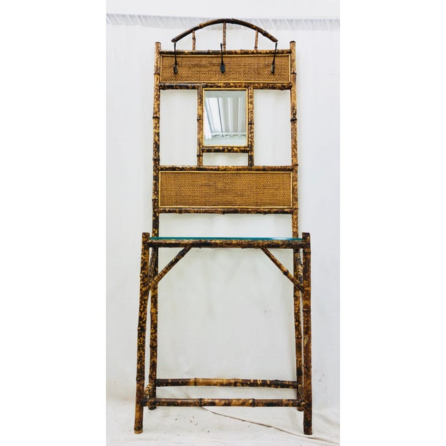 Vintage Scorched Bamboo Hall Tree For Sale - Image 10 of 10