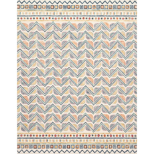"""Contemporary Loloi Rugs Priti Rug, Ivory / Multi - 2'6""""x7'6"""" For Sale - Image 3 of 3"""