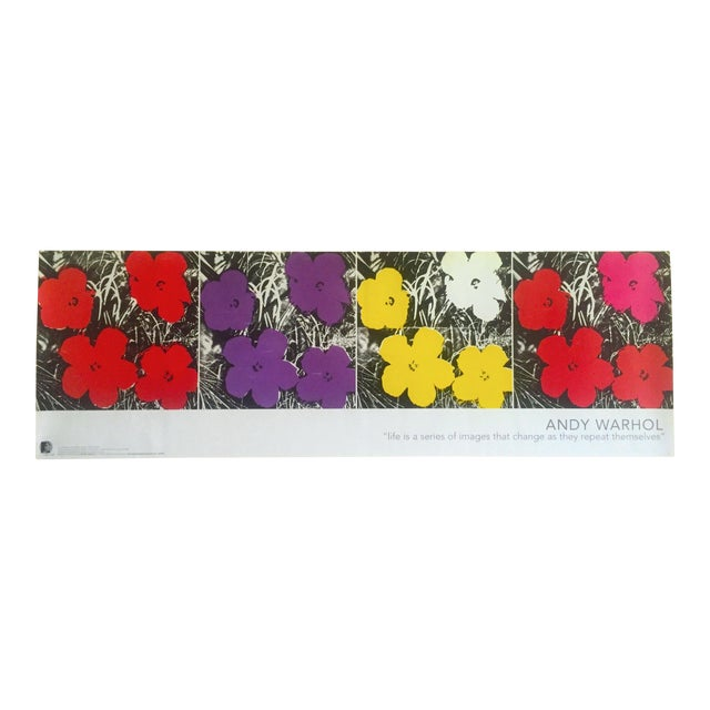 "Andy Warhol Foundation Vintage Pop Art Poster Print "" Flowers "" 1964 / 1967 For Sale"
