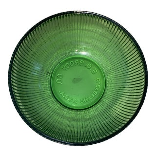Vintage 1950s E.O. Brody Co Emerald Green Glass Bowl For Sale