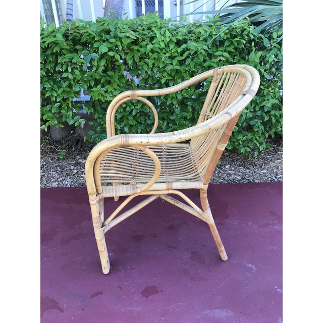 1960s Vintage Bamboo Arm Chairs- Set of 4 For Sale - Image 4 of 13