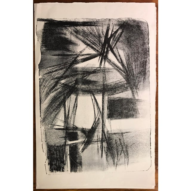 Jerry Opper Jerry Opper 1940-50s Abstract Mid Century Lithograph For Sale - Image 4 of 4