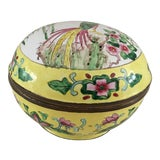 Image of 1970s Yellow Cloisonné Covered Box For Sale